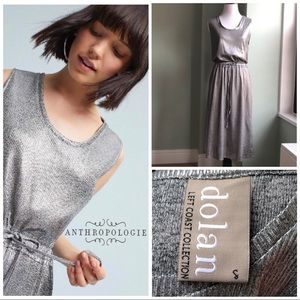 Anthro Dolan Left Coast metallic silver dress tank